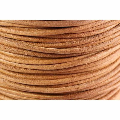 De 5 a 90 metros Cordon cuero autentico 2,5mm NATURAL MARRON CLARO (CC25-01)