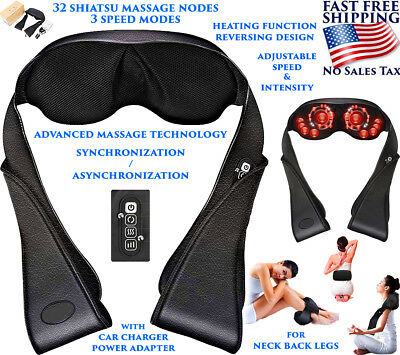 Shoulder Massager Shiatsu Back Neck And With Heat Deep Tissue 3D Kneading Pillow