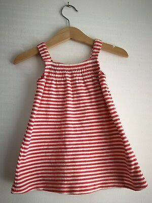 Great Condition Baby Girl 3-6 Months Red White Striped Dress