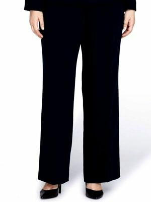 dcff912f5b03f $210 Tahari Asl Women's Black Straight Leg Crepe Dress Pants Trouser Size 18
