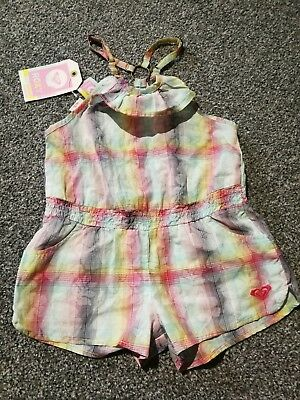 BNWT Girls Age 4-5 Summer Playsuit Outfit Shorts Surf From ROXY