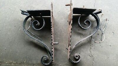 Pair of large Antique Cast Iron Corbels Architectural Salvage 100 years old