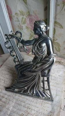 DIVINE ANTIQUE FRENCH CLASSICAL MAIDEN FIGURE MOUNT & STAND c1900