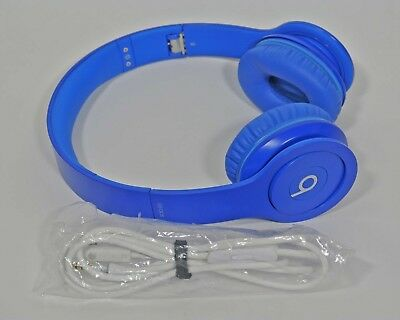 Apple Beats By Dr. Dre Solo 1 Solo HD WIRED On Ear Headphone MATTE Blue EUC