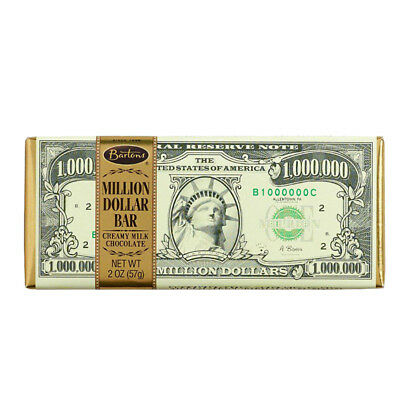 BARTON'S MILLION DOLLAR CHOCOLATE BAR MONEY CHOC CONFECTIONERY SWEETS GIFT 57g