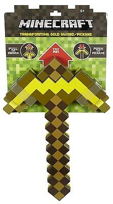 Minecraft Transforming Gold Sword/Pickaxe Toy