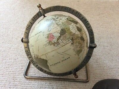 Vintage style 20cm diameter new condition globe on brass stand