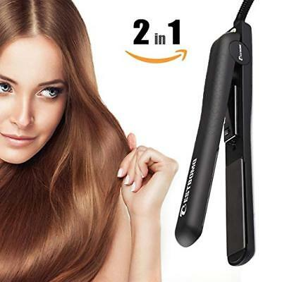 BESTBOMG Professional Ionic Flat Iron, Worldwide Dual Voltage Hair Straightener,