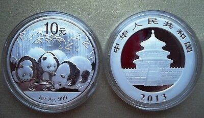 China ¥ 10 Yuan Panda 2013 1 oz Silver .999 Chinese Mint Brilliant Uncirculated