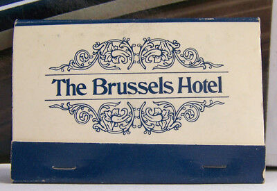 Rare Vintage Matchbook S3 Washington DC 1990 M Street NW Brussels Hotel French