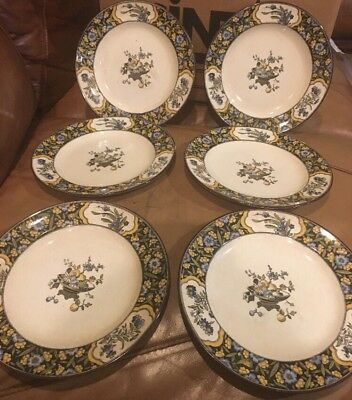 """MINTON Antique """"CHINESE BLOSSOM"""" England 8"""" Plates Set Of 6."""
