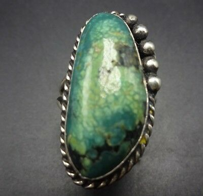 GORGEOUS 1960s Vintage NAVAJO Sterling Silver ROYSTON TURQUOISE RING size 7.5