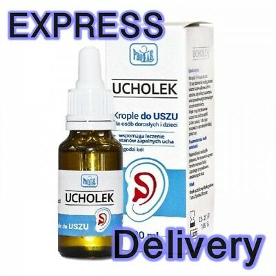 UCHOLEK  Ear drops 20 ml Ear Infection RELIEF- Krople do uszu, Stan zapalny uszu
