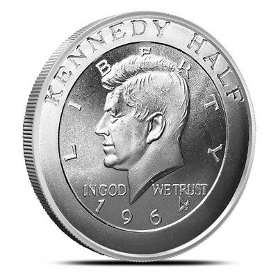 1 - 1 oz .999 Silver Round - John F Kennedy Design - Brilliant Uncirculated