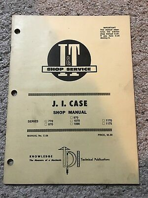 CASE 1090/1170/1175 TRACTOR Service Manual Repair Shop Book NEW with on
