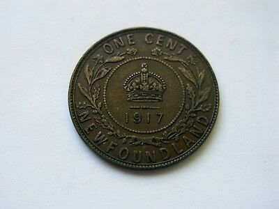 1917 Newfoundland Large One Cent