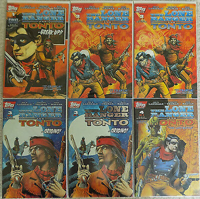 Lone Ranger And Tonto 1994 Comic Books Complete Set 1 Thru 4 * Topps * 2 Extras