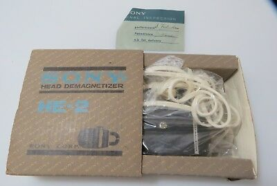 Vintage Sony HE-2 Tape Head Demagnetizer with Original Box IOB