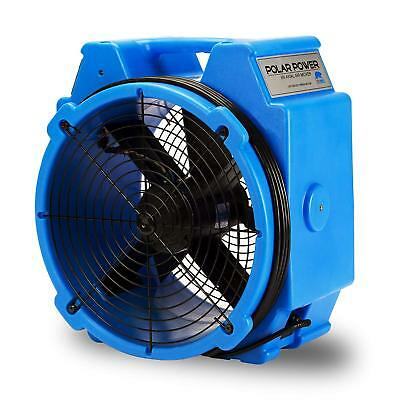 B-Air Pb-25 1/4 Hp Polar Axial Fan High Velocity Air Mover For Water Damage Rest