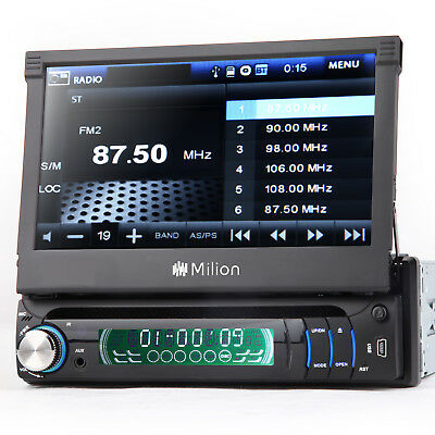 "US 7"" Single DIN Car Radio Audio DVD Player MP3 CD Stereo Bluetooth Touch Screen"