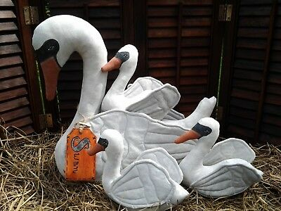 Primitive~  FoLk ArT ~  Swan and Babies!~ Cloth Doll ~ Paper Pattern For Sewing