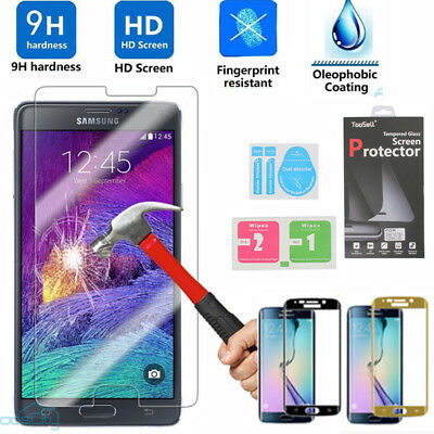 Full Cover Tempered Glass Screen Protector For Samsung Galaxy Edge S5 S6 S7 S8