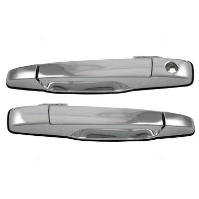 New Pair Outside Front Chrome Door Handle Cadillac GMC Chevy Pickup Truck SUV