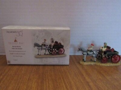 Dept 56 Seasons Bay 1998 Back From The Orchard 53320 Horse Wagon Filled W/Apples