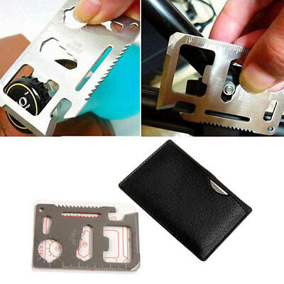 11 in 1 Mini Emergency Survival Credit Card Knife Multi function camping Tool
