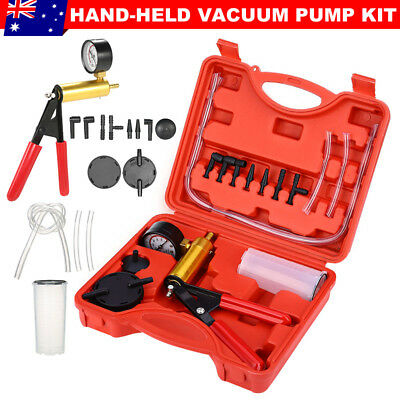 Hand Held Brake Bleeder Tester Set Bleed Kit Vacuum Pump Car Bleeding