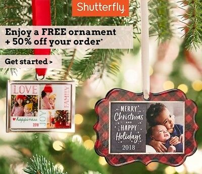 Shutterfly Metal Ornament & 50% Off One Regular-Priced Order (PG) Exp. 12/31/18