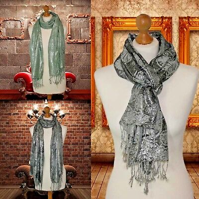 Wholesale Job lot shiny lurex womens ladies scarves in butterfly rose £1.20