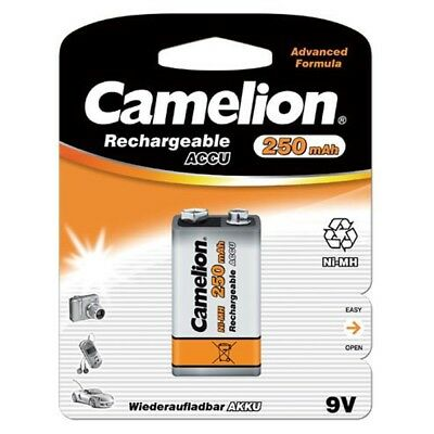 New Camelion 8.4V 250mAh Ni-MH 9V ACCU Rechargeable Battery