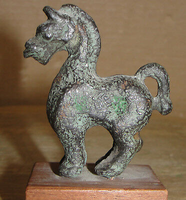 Alva Museum Art Institute Chicago Sculpture Desk Table Stand Horse Bronze Metal