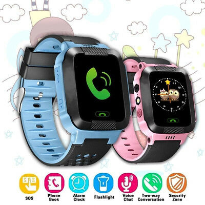 Anti-lost Kids Safe GPS Tracker SOS Call GSM Smart Watch Phone For Android IOS