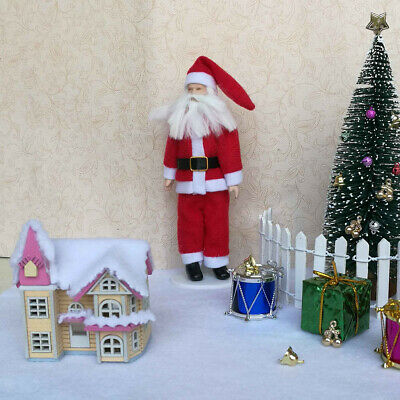 1/12 Dollhouse Miniature Pink DIY Doll House Kits Attic Xmas Gifts