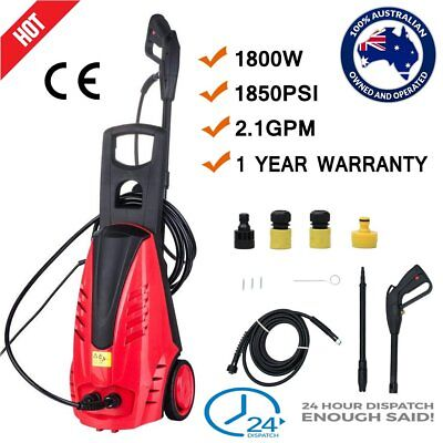 PRO 1850 PSI High Pressure Water Cleaner Washer Electric Pump Hose Gurney