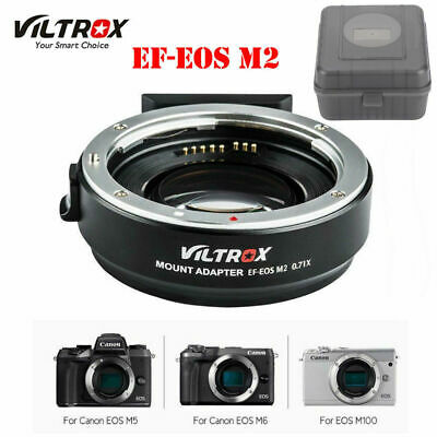 VILTROX EF-EOS M2 Auto Focus Mount Adapter 0.71X for Canon EF Lens to EOS-M