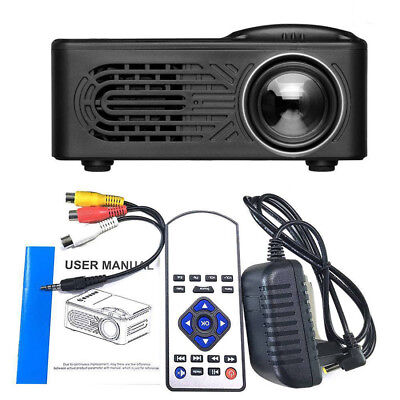 7000 Lumens 3D 1080P Full HD Mini Projector LED Multimedia Home Theater AV WIFI