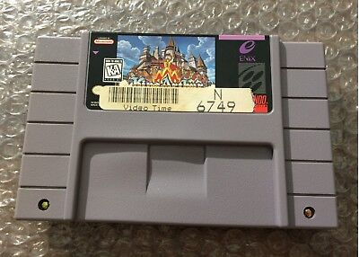 King Arthur and the Knights of Justice (Super Nintendo, SNES) Authentic Cart