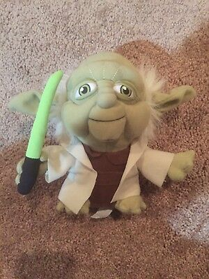 Star Wars Yoda Plush with Light Saber GET IT FAST ~ US SHIPPER