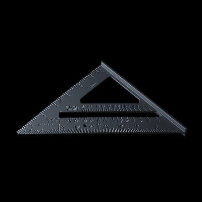 """7"""" Aluminium Alloy Roofing Rafter Speed Square Triangle Angle Guide Joinery UKTC"""