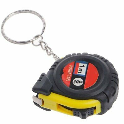 Portable Pocket Tape Measure Key Ring Retractable Ruler Measuring Metric