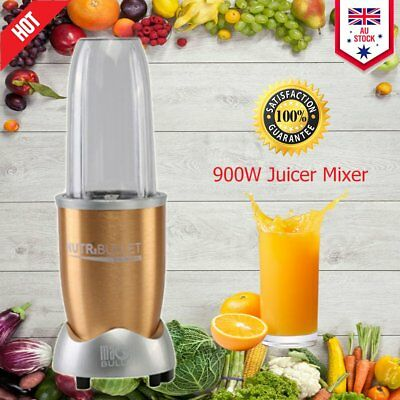 900W Juicer Mixer Vegetable Blender Extractor High-Speed 11PCs champagne gold