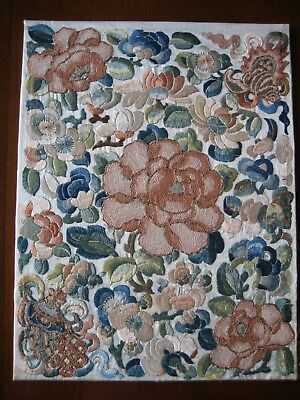 Antique Stitchwork Chinese Silk Embroidery Panel