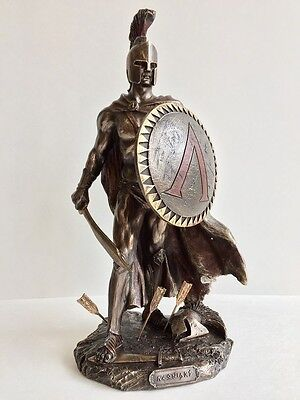 Leonidas Statue Spartan King with Sword & Shield Sculpture Figurine
