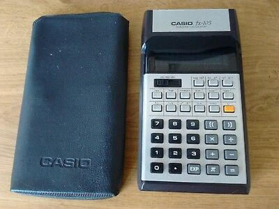 Casio Fx-105 Vintage Electronic Calculator With Original Case