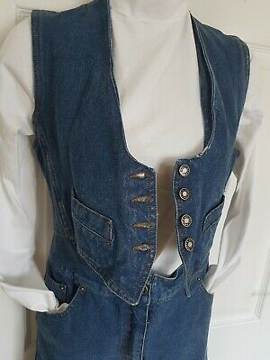 Vintage Jean Paul Gaultier Paris original playsuit jumpsuit denim s fr38 party