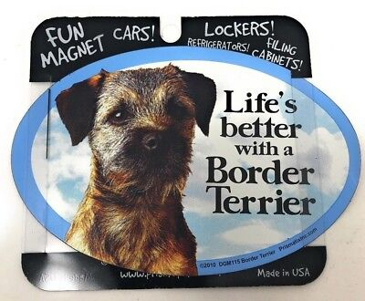 LIFE'S BETTER WITH A BORDER TERRIER MAGNET Dog, Cars, Trucks. Lockers