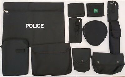 Cordura Police Security Notebook Handcuff Glove Radio Document First Aid Pouches
